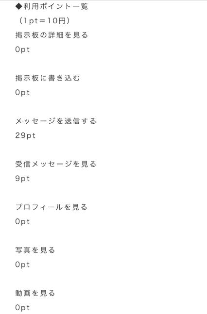 悪質出会い系サイト「アプリル」の料金表